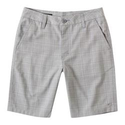 Boys' O'Neill Delta Plaid Shorts Grey
