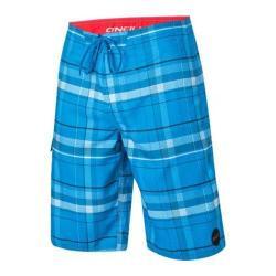 Men's O'Neill Santa Cruz Plaid Boardshorts Bright Blue