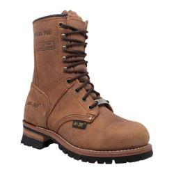 Women's AdTec 2426 9in Steel Toe Logger Brown Leather