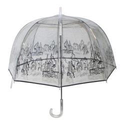 Women's London Fog 904 Clear Umbrella City