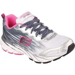Girls' Skechers Speed Upz White/Black/Hot Pink