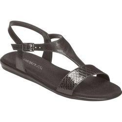 Women's Aerosoles World Chlass Black Snake Faux Leather