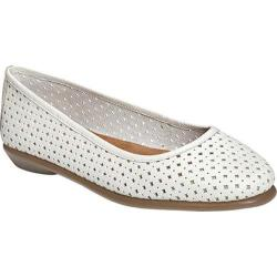 Women's Aerosoles Between Us Ballet Flat White Leather