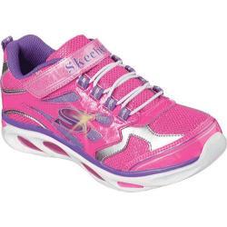 Girls' Skechers S Lights Blissful Hot Pink/Purple