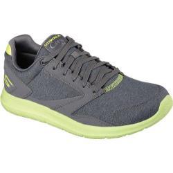 Men's Skechers GOwalk City Uptown Charcoal/Lime