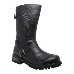 Men's Ride Tecs 1500 12in Shifter Pad Engineer Boot Black Leather