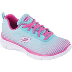 Girls' Skechers Equalizer Expect Miracles Sneaker Light Blue/Pink