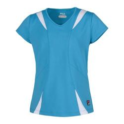 Girls' Fila Short Sleeve Top Aquamarine/White