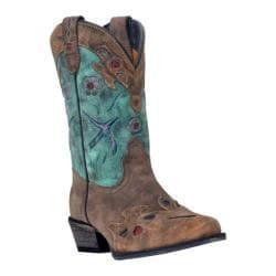 Girls' Dan Post Boots Vintage Bluebird DPC2151 Brown/Teal Leather