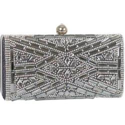 Women's J. Furmani 60239 Hardcase Stone Design Clutch Pewter