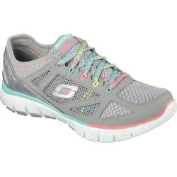 Women's Skechers Relaxed Fit Skech-Flex Fashion Play Light Gray/Multi