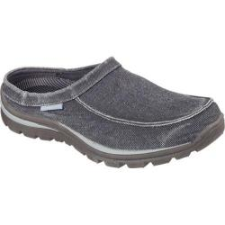 Men's Skechers Relaxed Fit Superior Hilson Clog Black/Gray