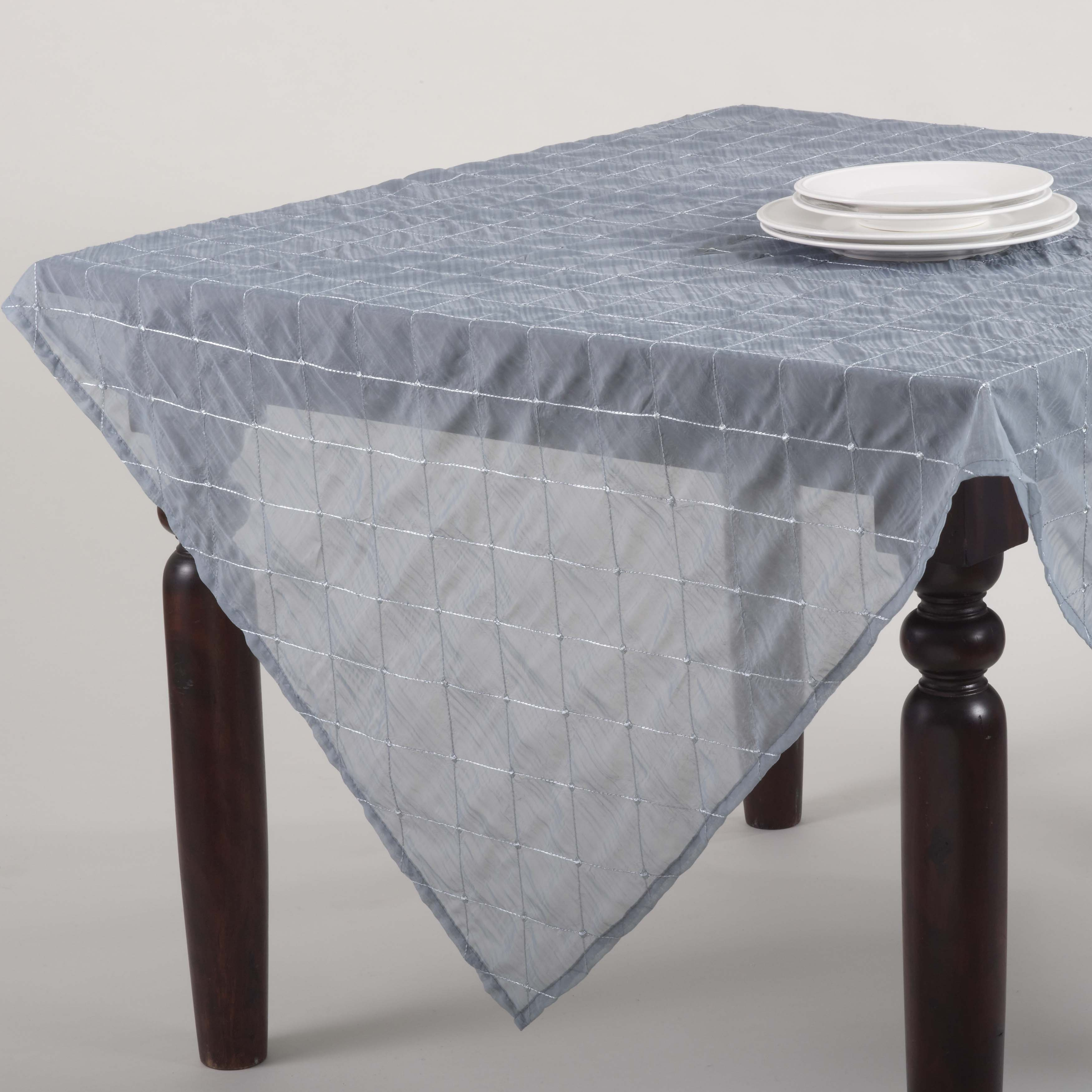 Stitched Sheer Design Topper or Tablecloth