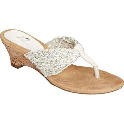 Women's A2 by Aerosoles Mound Over Sandal White Silver