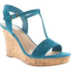 Women's Charles by Charles David Libra Sandal Turquoise Kid Suede