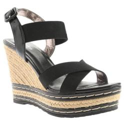 Women's Charles by Charles David Thrice Sandal Black Elastic/Smooth