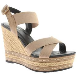 Women's Charles by Charles David Thrice Sandal Nude Elastic/Smooth