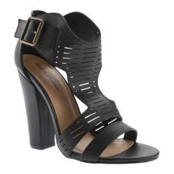 Women's Michael Antonio Knoll T-Strap Sandal Black PU
