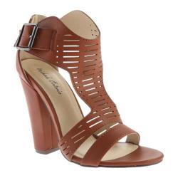 Women's Michael Antonio Knoll T-Strap Sandal Cognac PU
