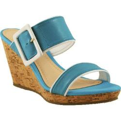 Women's Bruno Menegatti 11616434 Wedge Turquoise Leather
