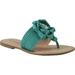 Women's Bruno Menegatti 17107 Sandal Aqua Leather