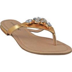 Women's Bruno Menegatti 1906312 Sandal Gold Leather