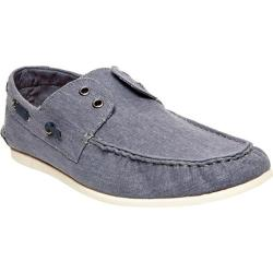 Men's Steve Madden Hitch Boat Shoe Blue Canvas