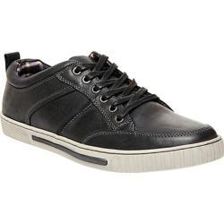 Men's Steve Madden Pipeur Sneaker Black Leather