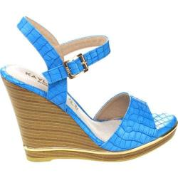 Women's Westbuitti Evina-3 Wedge Sandal Blue