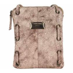Women's Latico Berne Cross Body Bag 8925 Crackle White Leather