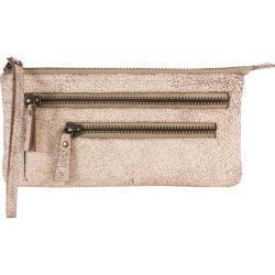 Women's Latico Campbell Clutch 8924 Crackle White Leather