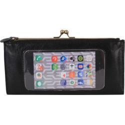 Women's Latico Mavis Phone Wallet 5664 Black Leather