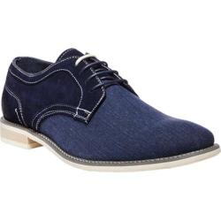 Men's Steve Madden Sojourn Oxford Navy Suede Canvas/Leather