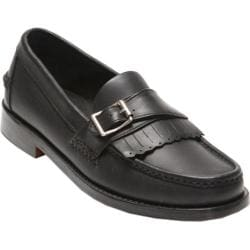 Men's Handsewn Company Buckle Kilt Driver Leather Outsole Black Leather