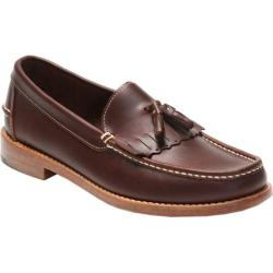 Men's Handsewn Company Tassel Kilt Driver Leather Outsole Dark Brown Leather
