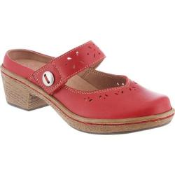 Women's Klogs Voyage Hunter Red Smooth Leather