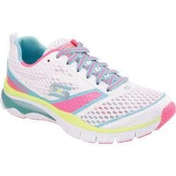 Women's Skechers Relaxed Fit Sport Heir Apparent Training Sneaker White/Pink