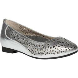 Women's Propet Cicely Silver Full Grain Leather