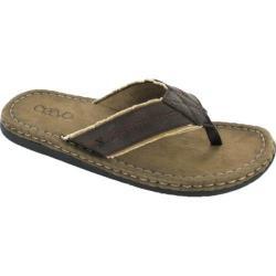 Men's Crevo Houston Flip-Flop Dark Taupe Leather