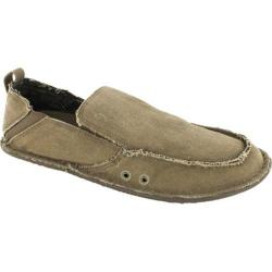 Men's Crevo Rasta Moccasin Tan Canvas