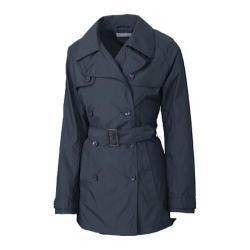 Women's Cutter & Buck CB WeatherTec Mason Trench Coat Onyx
