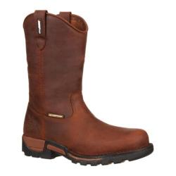 Men's Georgia Boot GBOT070 11in Wellington Eagle One Brown Full Grain Leather