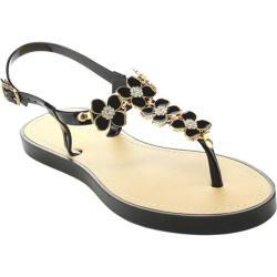 Women's Wild Diva Glenn-12 T-Strap Sandal Black Rubber