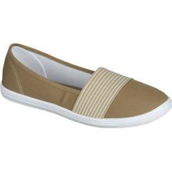 Women's L & C Lala-27 Canvas Slip On Khaki