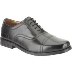Men's Clarks Beeston Cap Black Leather