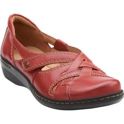Women's Clarks Evianna Peal Red Leather