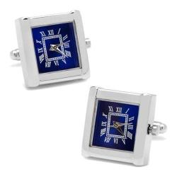 Men's Cufflinks Inc Stainless Steel Square Watch Face Cufflinks Silver