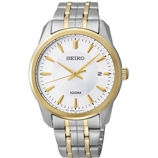 Seiko Men's Two-tone Silvertone Dial Stainless Steel