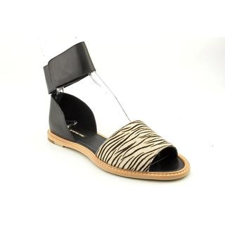 All Black Women's 'Open Zebra' Man-Made Sandals