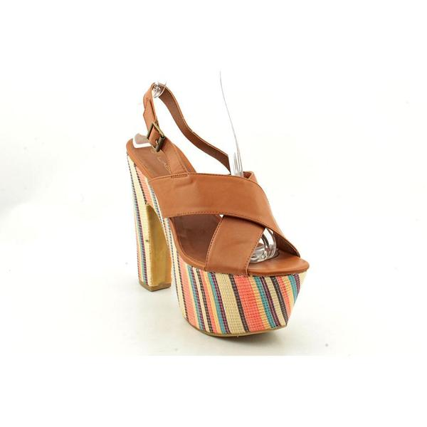 C Label Women's 'Christian-2' Brown Wrapped-Platform Dress Shoes